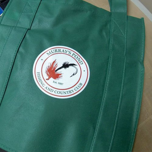 Heat Applied Logo on Shopping Bag