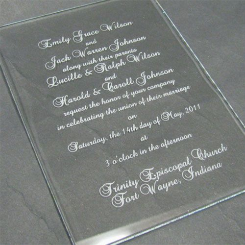 Sandblasted Invitation