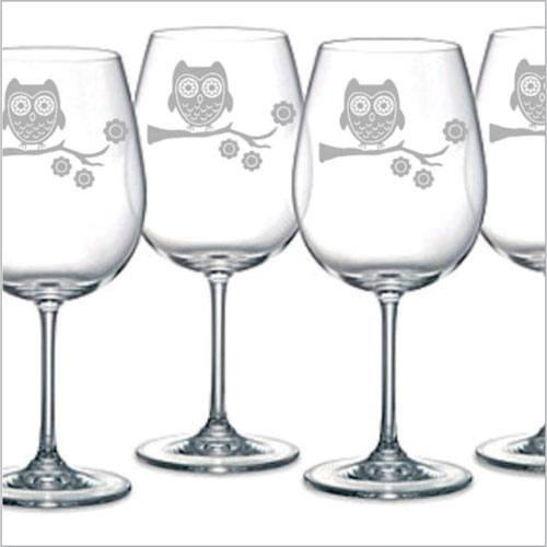 Sandblasted Wine Glasses